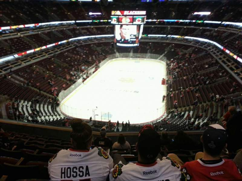 Seating view for United Center Section 325 Row 9 Seat 8