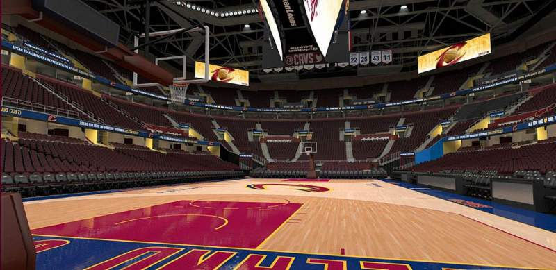 Rocket Mortgage Fieldhouse Section 13 Row Vip Cleveland