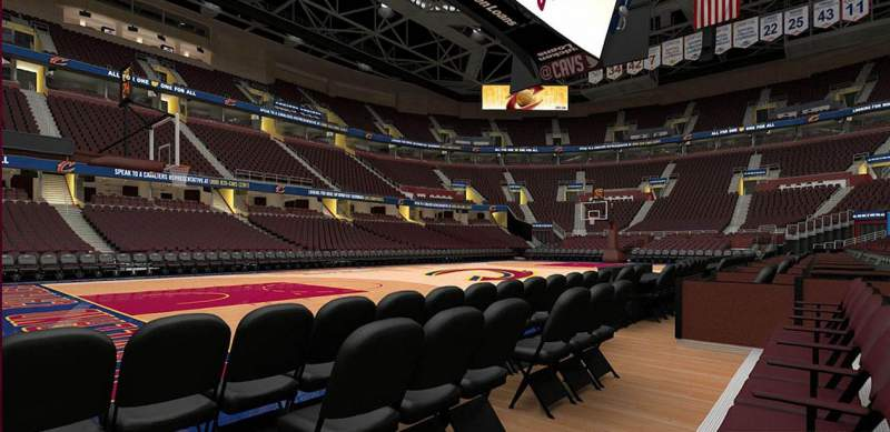 Rocket Mortgage Fieldhouse Section 9 Row 1 Cleveland Cavaliers