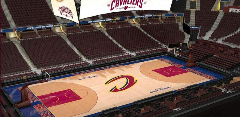 Seating view for Quicken Loans Arena Section 223 Row 3