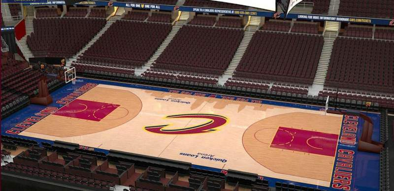 Seating view for Quicken Loans Arena Section 227 Row 3