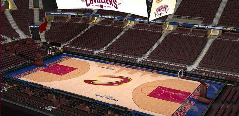 Seating view for Quicken Loans Arena Section 228 Row 3