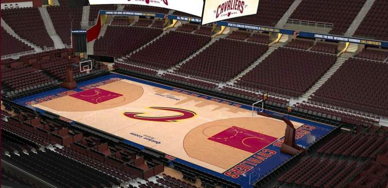 Seating view for Quicken Loans Arena Section 229 Row 3
