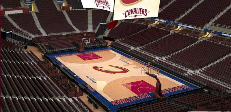 Seating view for Quicken Loans Arena Section 231 Row 3