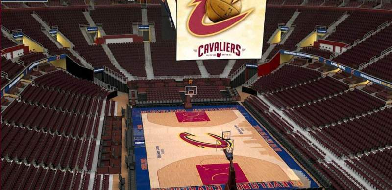 Quicken Loans Arena, section: 233, row: 3