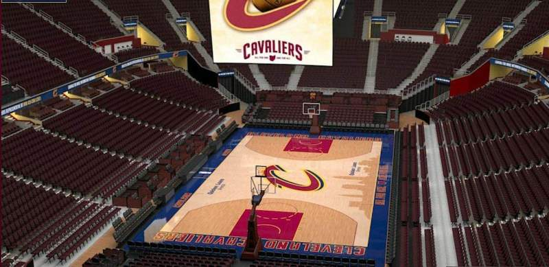 Quicken Loans Arena, section: 201, row: 3