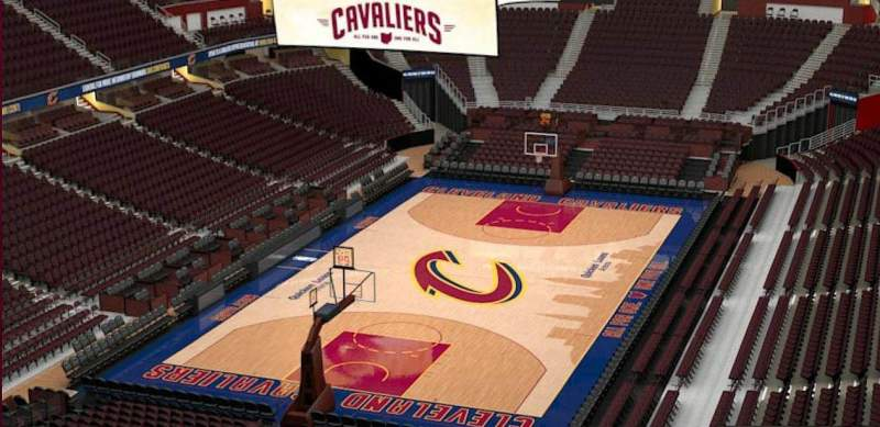 Quicken Loans Arena, section: 202, row: 3