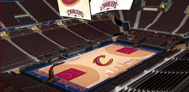 Seating view for Quicken Loans Arena Section 204 Row 3