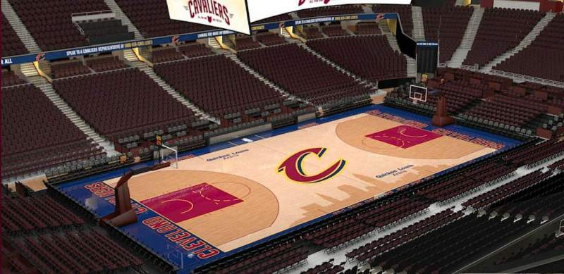 Quicken Loans Arena, section: 205, row: 3