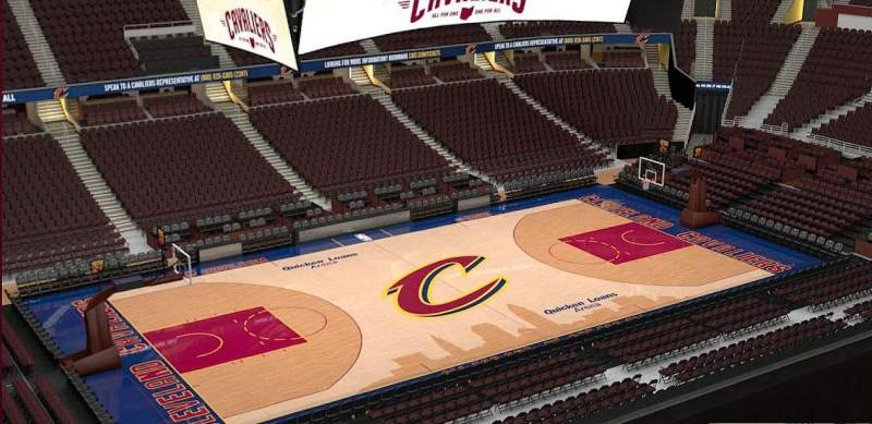 Quicken Loans Arena, section: 206, row: 3