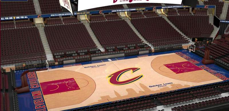Quicken Loans Arena, section: 207, row: 3