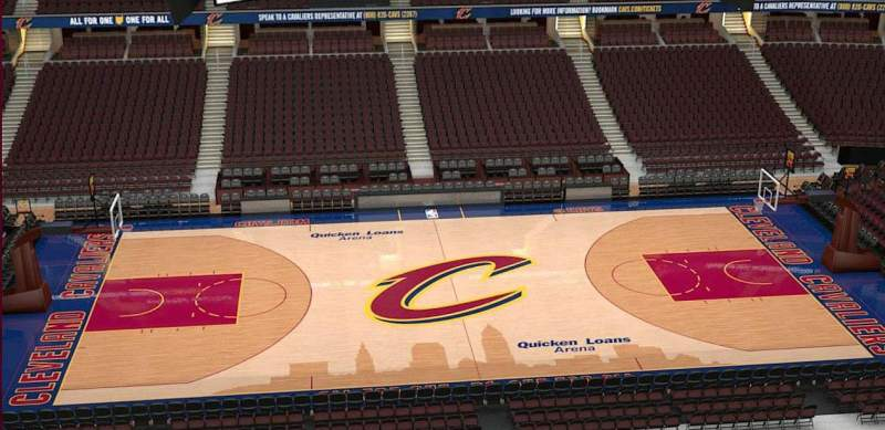 Quicken Loans Arena, section: 208, row: 3