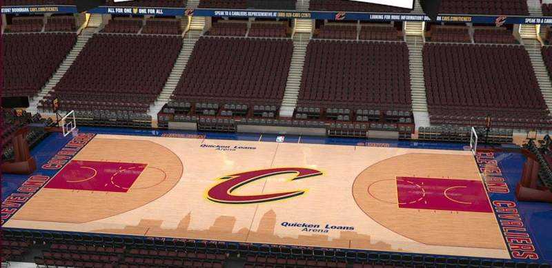 Quicken Loans Arena, section: 209, row: 3