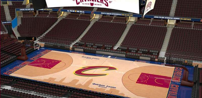 Quicken Loans Arena, section: 210, row: 3