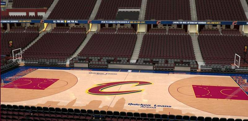 Quicken Loans Arena, section: C109