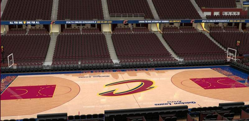 Seating view for Quicken Loans Arena Section C125 Row 20