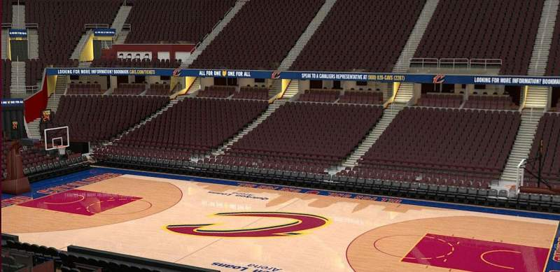 Seating view for Quicken Loans Arena Section C127 Row 20