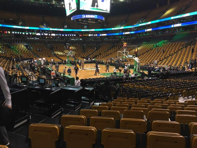 Seating view for Td Garden Section Loge 19 Row 11 Seat 14
