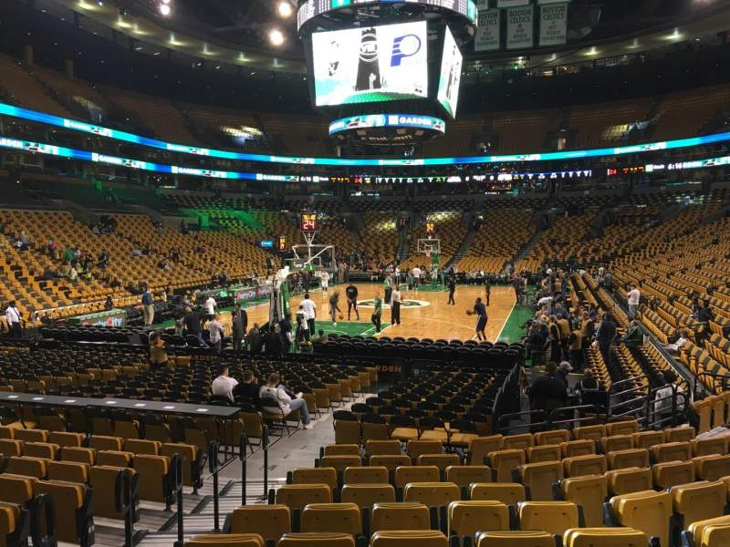 Seating view for TD Garden Section Loge 16 Row 11 Seat 15