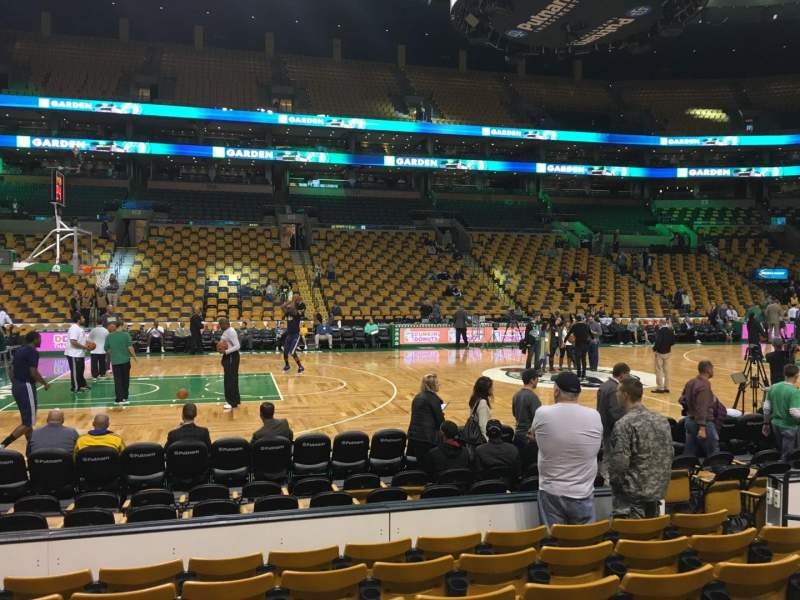 Seating view for TD Garden Section Loge 13 Row 7 Seat 8