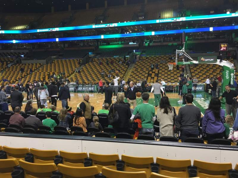 Seating view for TD Garden Section Loge 11 Row 5 Seat 5