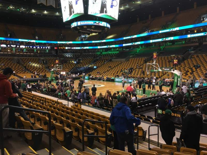 Seating view for TD Garden Section Loge 9 Row 10 Seat 9
