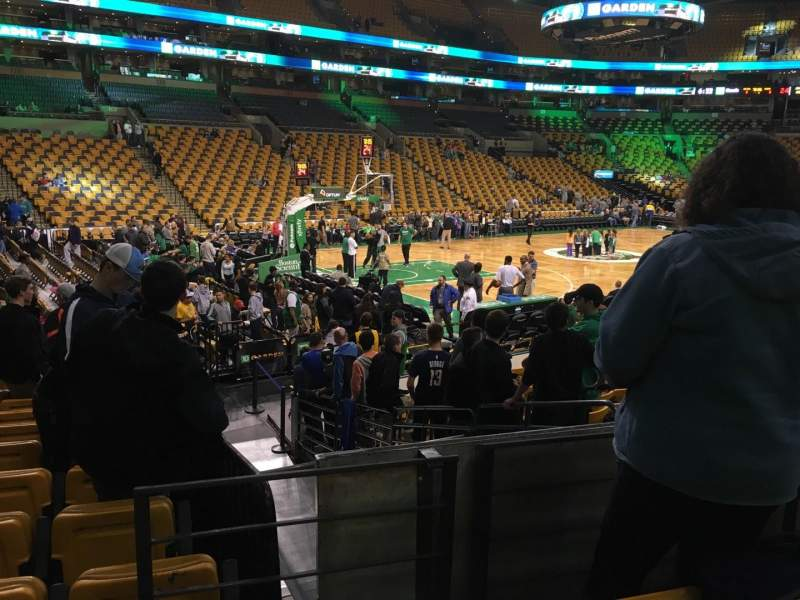 Seating view for TD Garden Section Loge 4 Row 13 Seat 6
