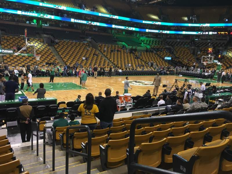 Seating view for TD Garden Section Loge 3 Row 9 Seat 1