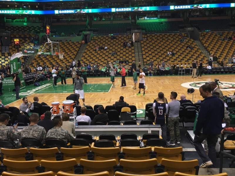 Seating view for TD Garden Section Loge 2 Row 8 Seat 2