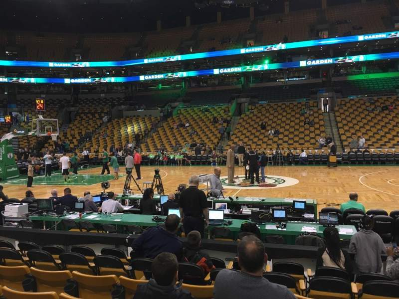 Seating view for TD Garden Section Loge 1 Row 6 Seat 4