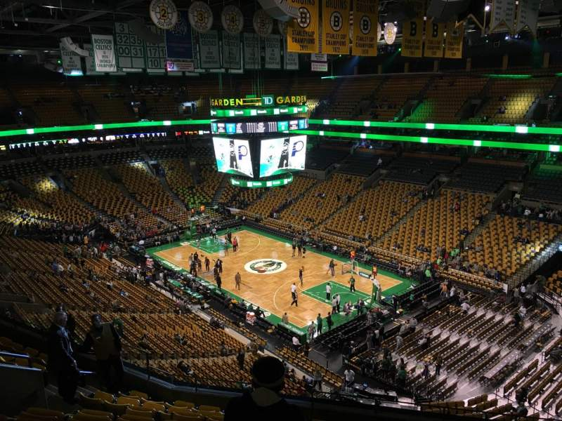 Seating view for TD Garden Section Bal 327 Row 10 Seat 10