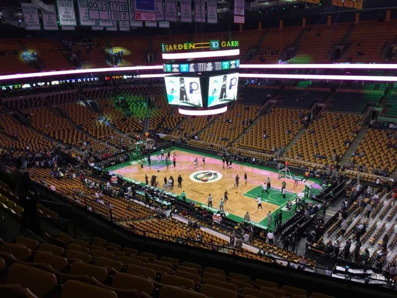 Seating view for TD Garden Section Bal 328 Row 8 Seat 8