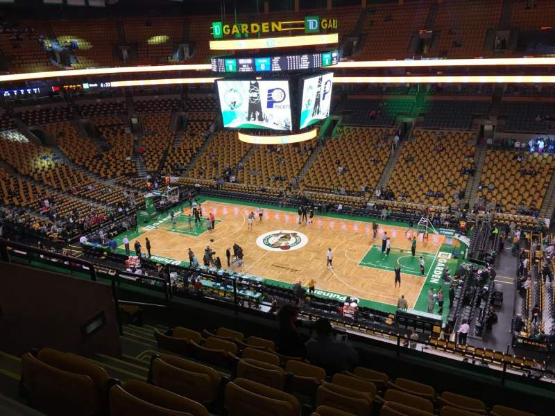Seating view for TD Garden Section Bal 329 Row 7 Seat 9