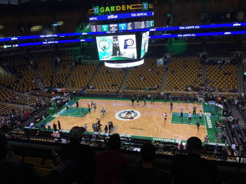 Seating view for TD Garden Section Bal 330 Row 5 Seat 6