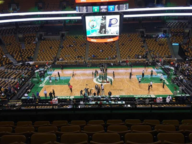 Seating view for TD Garden Section Bal 301 Row 6 Seat 8