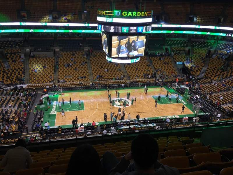 Seating view for TD Garden Section Bal 302 Row 10 Seat 10