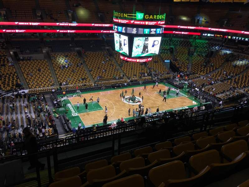 Seating view for TD Garden Section Bal 303 Row 11 Seat 18