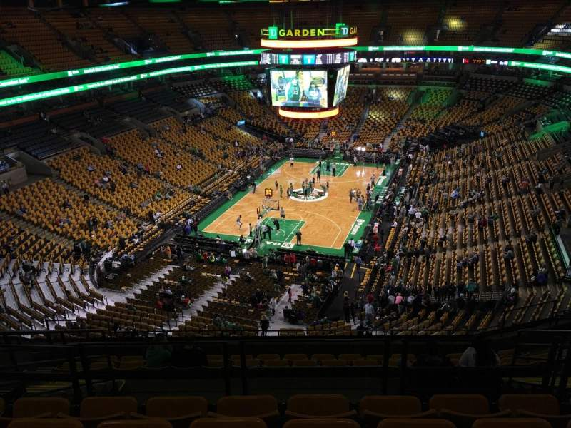 Seating view for TD Garden Section Bal 307 Row 11 Seat 12