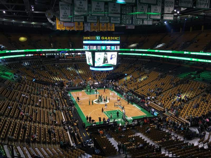 Seating view for TD Garden Section Bal 310 Row 6 Seat 10