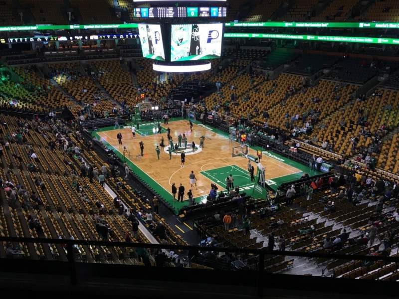 Seating view for TD Garden Section Bal 311 Row 6 Seat 5