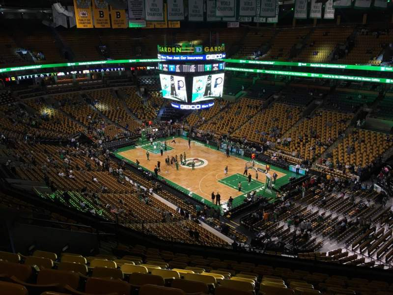 Seating view for TD Garden Section Bal 312 Row 12 Seat 11