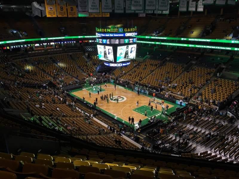 TD Garden, section Bal 312, row 12, seat 11 - Boston ...