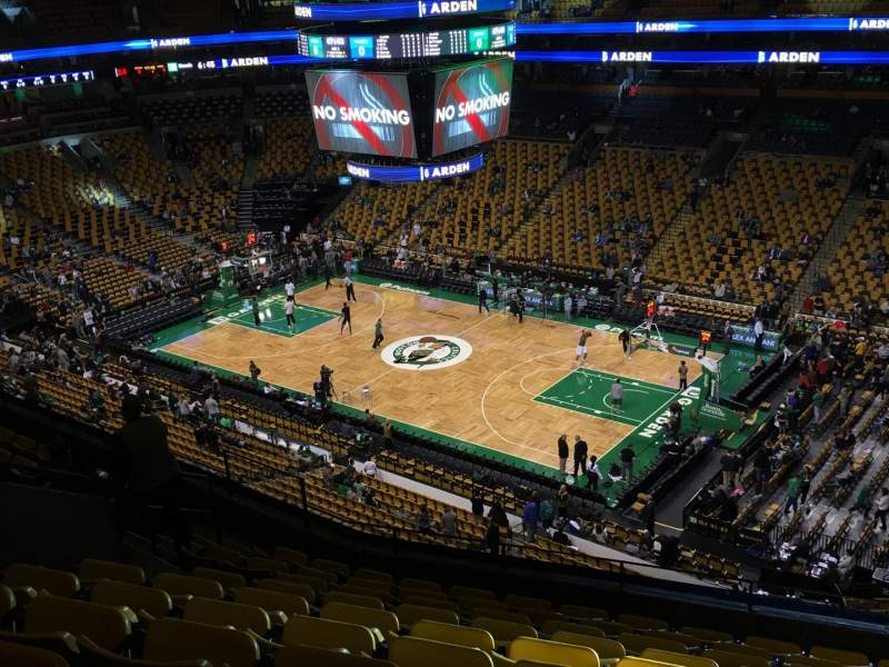 Seating view for TD Garden Section Bal 313 Row 10 Seat 10