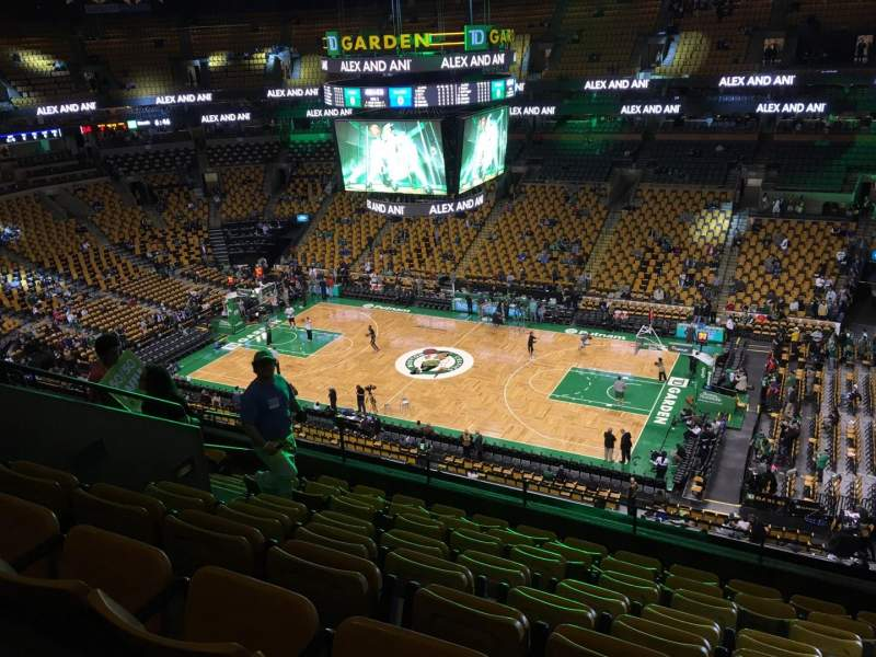 Seating view for TD Garden Section Bal 314 Row 9 Seat 10