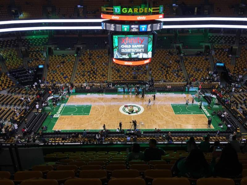 Seating view for TD Garden Section Bal 316 Row 12 Seat 13