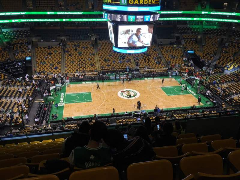 Seating view for TD Garden Section Bal 317 Row 11 Seat 9