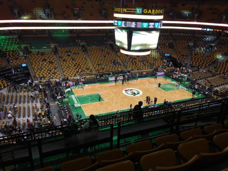 Seating view for TD Garden Section Bal 318 Row 10 Seat 14