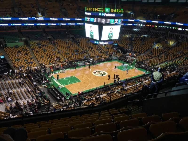 Seating view for TD Garden Section Bal 319 Row 9 Seat 10