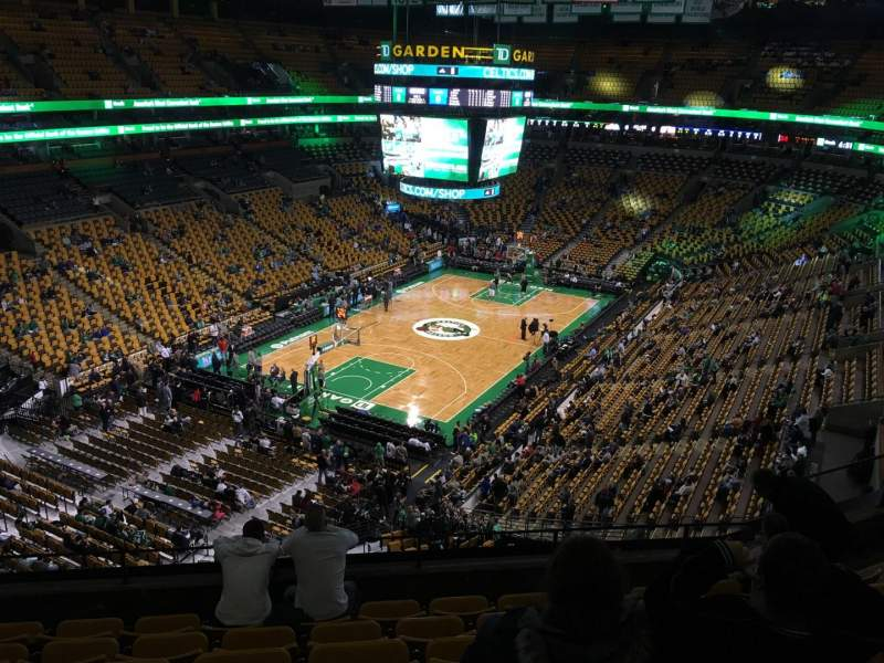 Seating view for TD Garden Section Bal 321 Row 7 Seat 7