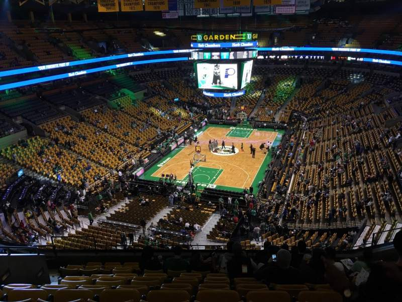 Seating view for TD Garden Section Bal 322 Row 11 Seat 13